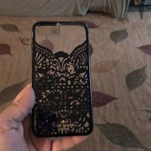 KATE SPADE IPHONE 8+ CELL PHONE CASE LIKE BLK LACE